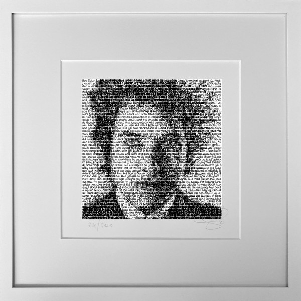 Wortmalerei Bob Dylan