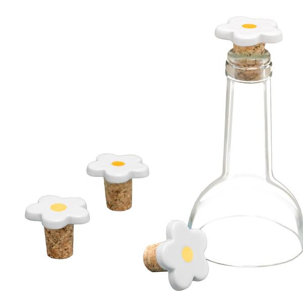 Flaschenstopfen Blume mit Goldpunkt