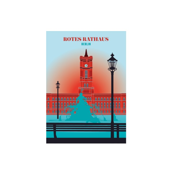 "Poster ""Rotes Rathaus"""