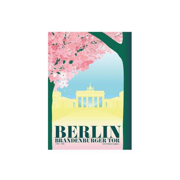 """Poster """"Brandenburger Tor Kirschblüte"""""""