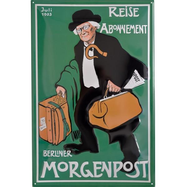 Berliner Morgenpost Emailleschild Reise Koffer