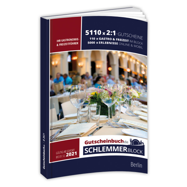 Gutscheinbuch.de Schlemmerblock Berlin 2021