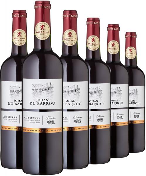 Corbières rouge AOC, Johan du Barrou - 6er-Paket