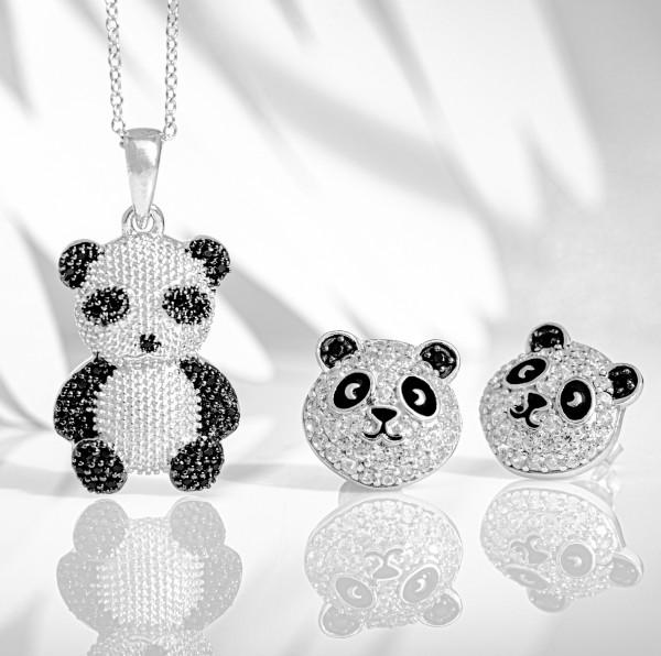 "Set ""Panda Bling Bling"" & ""Panda-Zwillinge"""