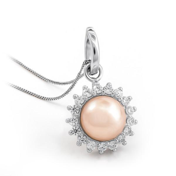 Perlen-Silberhalskette