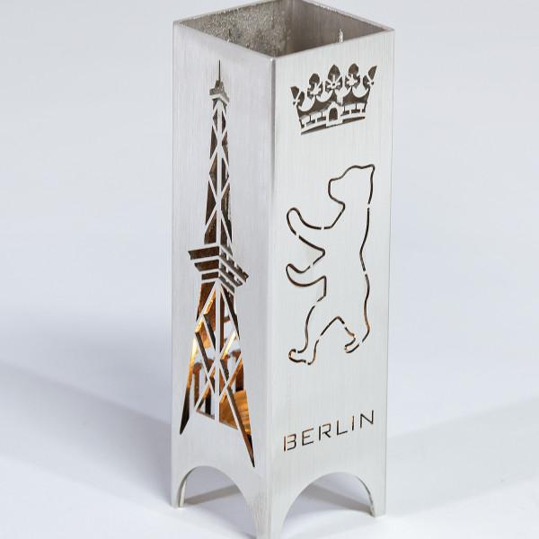 "Edelstahl-Windlicht ""Berlin"""