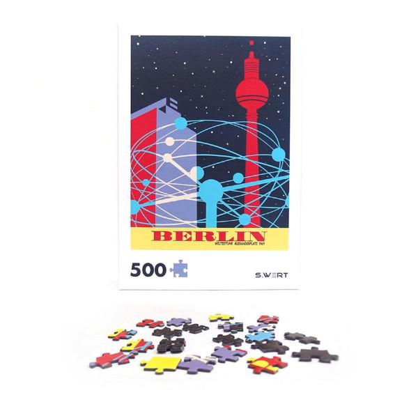 """Berlin-Puzzle """"Weltzeituhr"""""""